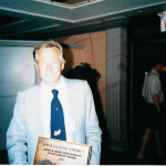 Greg with the 1st Annual John & Barb Gerstkemper Membership Sponsor Award in 2001 (He also won it in 2002, for recruiting over 50 new members!)